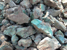 Copper ore, Cu, fine and lump