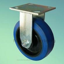 Blue Rubber Black PP Core 5 Inch Heavy Duty Industrial Caster