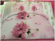 3D reactive printed bedding set queen plaid bedding set