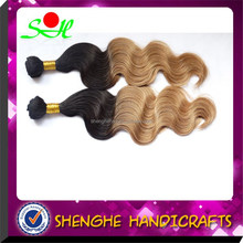 top grade wholesale alibaba 100% Human Hair Weaves colour 1b/27 Body Wave hair extensions length 8~32 inc factory price