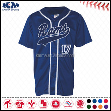 Karma 2015 fashion jersey plain pinstripe baseball jersey dress wholesale