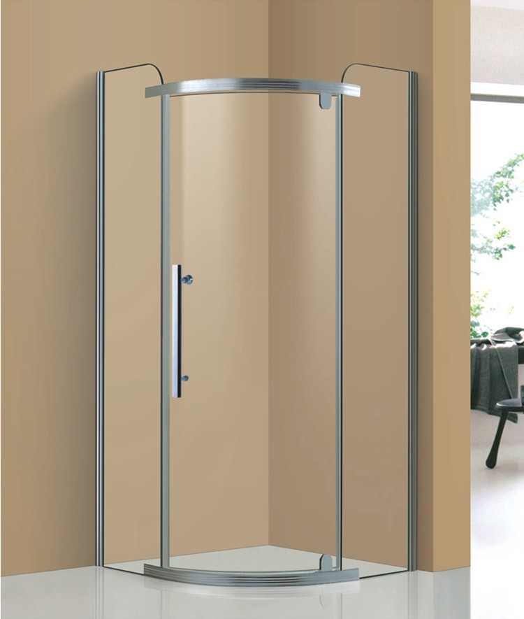 Free Standing 8mm Tempered Glass Bath Room /prefab Corner Glass ...