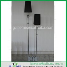 letter U and have lampshade for black floor lamp/bouble floor lamp(IH-T005F)