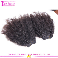 New 2015 hair product Unprocessed virgin brazilian kinky curly hair wholesale