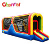 Hit and run inflatable sports game for bouncy bridge
