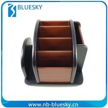 Decorative hot wooden remote control holders wooden pen holder