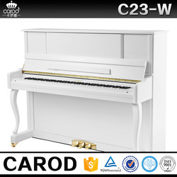 mechanical children wooden piano size with piano cover and chair