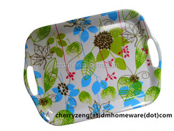 New Design Melamine Tray With Handle For Sale