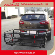 wholesale car accessories steel hitch mounted bike carrier rack for car trunk