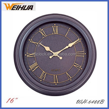 16 inch antique wall clock with Roma Numbers