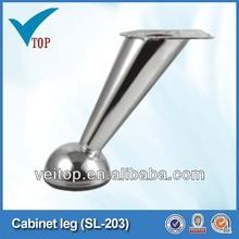 Base de mobiliário cromo ferro, sofá perna, sofás pés SL-203