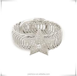 New Fashion Women's bracelet cuff Fashion silver star bangle Austrian Crystal gold bangle making wedding churi bangle set