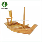 Extra grande de bambu estilo japonês Sushi e Sashimi barcos