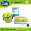 Stainless steel food container with handle