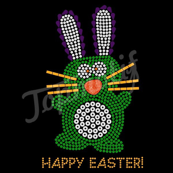 Easter Rhinestone Designs New Design Sequin Happy Easter
