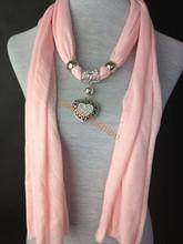 2015 latest women's fashionable infinity love pendant jewelry scarf
