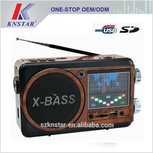 Hot sell rechargeable battery AM/FM/SW radio with USB/SD musia player