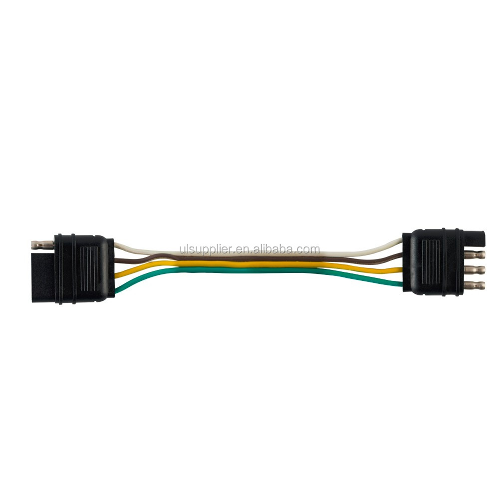 S20919 Trailer Wire Extension 20 Foot 4 Way Pin Plug Flat Wiring Harness Practical Use The Gauge Hitch Light Extender To Extend Current Truck