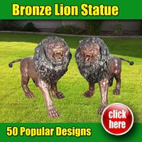 Antique bronze khmer lion statue