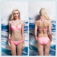 wholesale fashion PINK COLOR sexy girls bikini