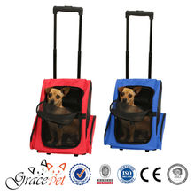 Traveler Rolling Pet Backpack Carrier for Cats and Dogs