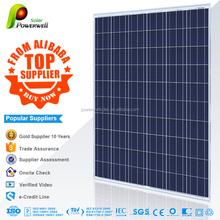 Powerwell Solar 250W Poly CE,SGS,CEC,IEC,TUV,ISO,CHUBB,INMETRO Approval Standard Polycrystalline Silicon Solar Cell