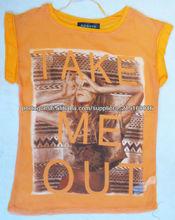 preço moda verão menor alta qualidade t-shirt impresso para as mulheres, os modelos de blusas de tecido made in china