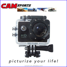 140 degree visual angl 2 inch screen 30m underwater waterproof full HD 1080P mini sport action DV camera for outddor sports