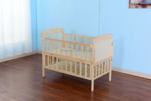 New Zealand Pine Baby Wooden Crib with drawer pine wood