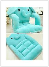 plush collapsible elephant shape baby sofa/lazy sofa/animal shape baby sofa