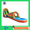Can be customized newest Long Inflatable Water Slide with Tunnel