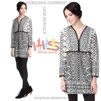 Fashion Western Gowns Party Dresses Long sleeve Batik Dress Designs HSD7917