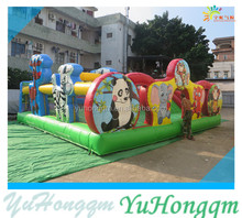 EN 14960 Funny Kids Animal Kingdom Bouncy Castle ,Giant Inflatable Amusement Park