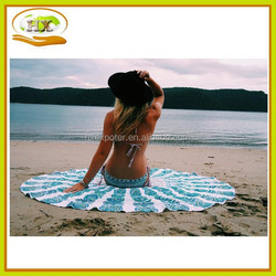 Indian Mandala Round Roundie Beach Throw Tapestry Hippy Boho Gypsy Cotton Tablecloth Beach Towel