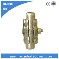 Construction pipe connection scaffolding joint clamps
