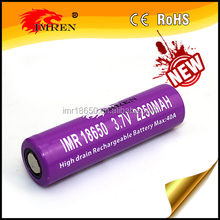 IMREN purple imr 18650 2250mah replacement lithium li ion cells battery
