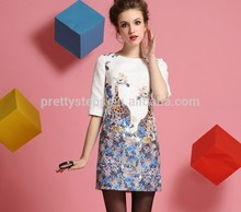 Para el verano 2015 el último elegante mujer china vestido de lujo/fabricante de prendas de vestir