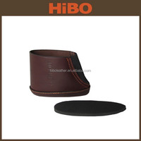 wholesale hunting real leather gun stock pad buttstock cover