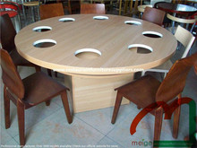 Restaurant Hot Pot Table, Chinese Restaurant Round Table Furniture for Sale