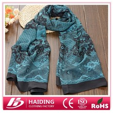 Vintaga printing polyester scarf