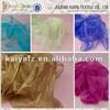 Custom made colorful crystal organza fabric