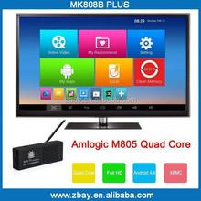 2015 Hot selling amlogic S805 quad core android tv stick MK808B PLUS