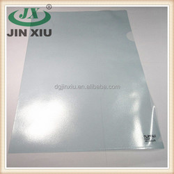 Clear stationery file embossing CPP plastic bag