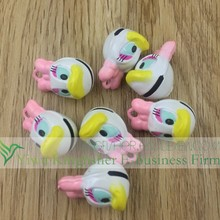 Lovely colorful duck shape animal cartoon bells, Brass metal animal pendant charm bells wholesales