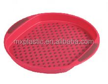 Plastic Round Trays and Fruit, beverage trays