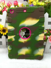 Cheap silicone Case For IPAD 5 3d silicone for apple iphone6 camouflage TPU case