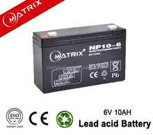 Factory best seller Matrix 6v 10ah toy car battery /electronic scale