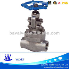 ANSI/API 800lb DN25 high pressure /thread/316L/ handwheel /forged steel gate valve