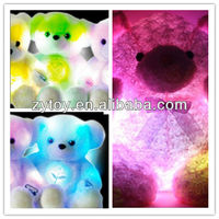 Glow plush t bear toy with LED light