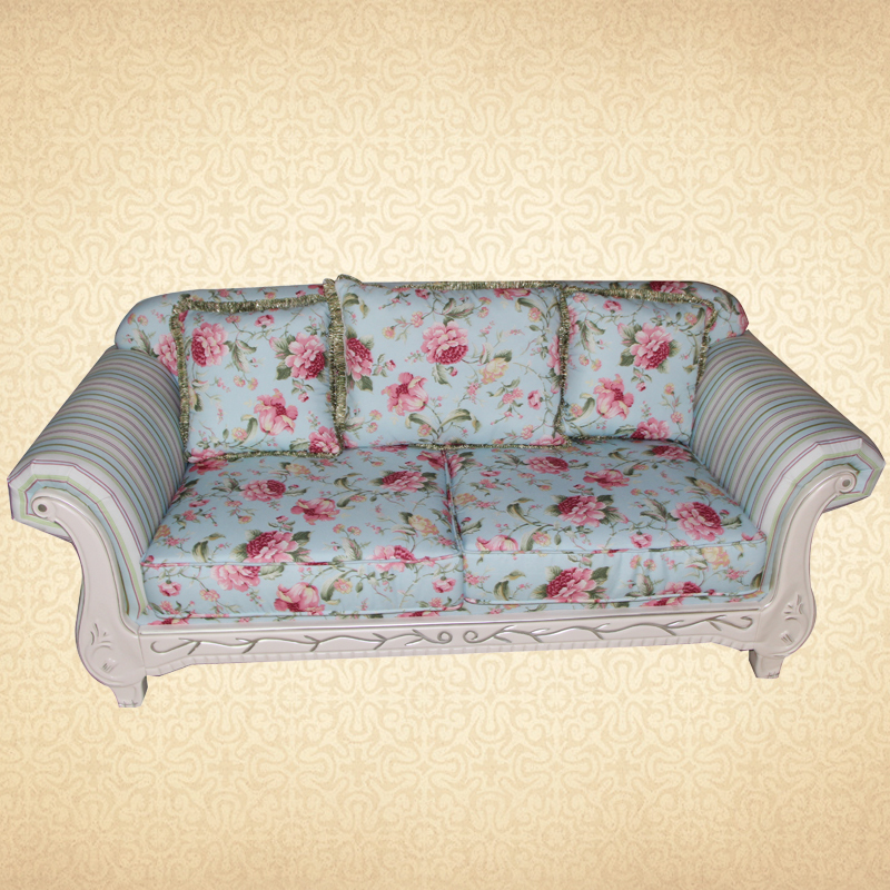 Indie Pop Floral Fabric Loveseat Rustic Country Style 2